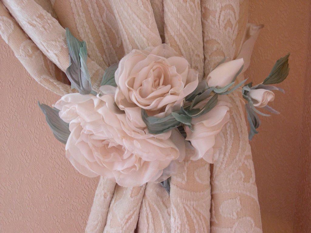 Штора из цветов своими руками из ткани