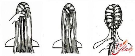 причёска колосок схема плетения
