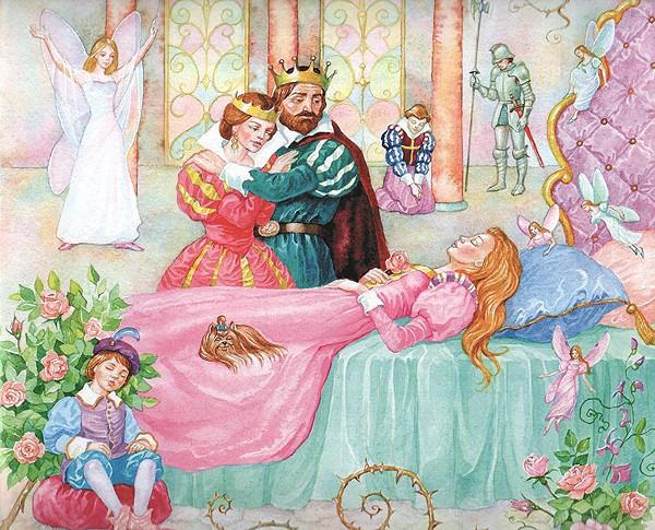 сказка о спящей красавице и 7 богатырях