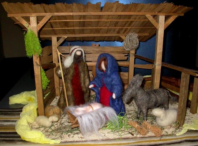 Рождественский макет своими руками
