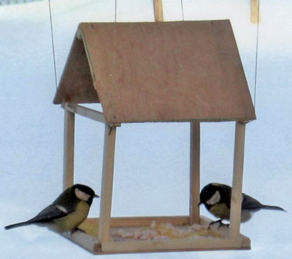 Как сделать кормушку для птиц деревянную своими